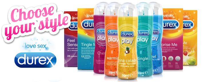 D�couvrez tous les produits de marque Durex - Pr�servatifs, gels / lubrifiants, vibromasseurs et anneau vibrant !