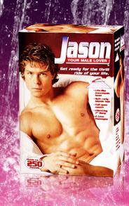 Jason poupée gonflable mâle