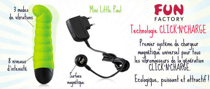 Mini Little Paul Vert - Click'N'Charge + Chargeur
