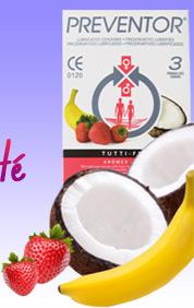 3 Préservatifs Preventor Tutti Frutti
