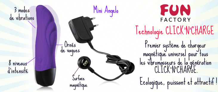 Mini Angelo Violet - Click'N'Charge + Chargeur