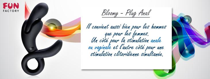 Bloomy - Plug Anal - Noir