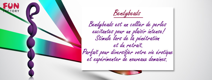 Boules Anales Bendybeads Fun Factory violet
