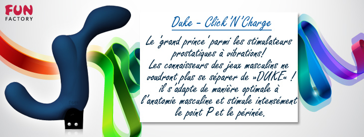 Duke Bleu foncé - Click'N'Charge - NEW + Chargeur