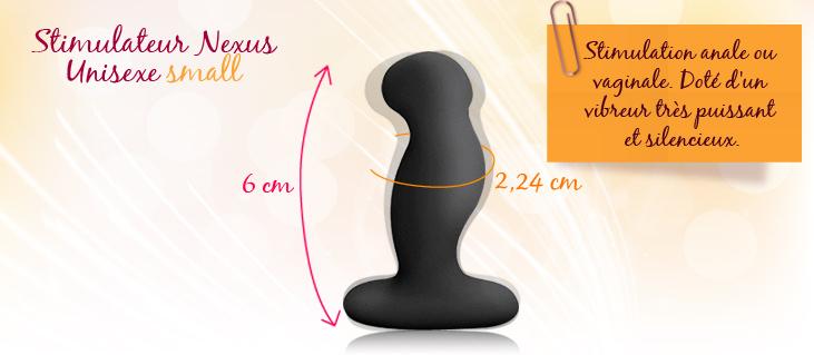 Nexus G-Play noir 6 cm vibrant