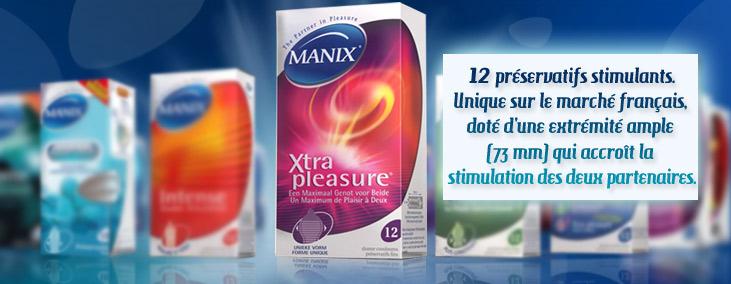 Manix Xtra Pleasure - 12 préservatifs stimulants