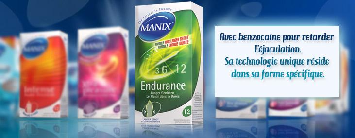 12 préservatifs retardants - Manix Endurance