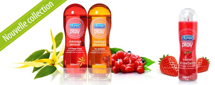 Lubrifiants et gels de massage Durex